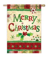 Merry Christmas Art Flag, Large