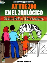At the Zoo/En el Zoologico, Bilingual Coloring Book