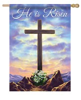 He Is Risen, Cross On the Hill Flag, Large