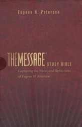 The Message Study Bible, Burgundy Imitation Leather  - Slightly Imperfect