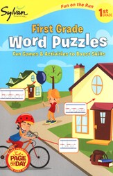 First Grade Word Puzzles (Sylvan Activity Books)