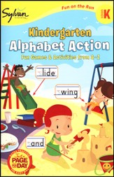 Kindergarten Alphabet Action (Sylvan Activity Books)