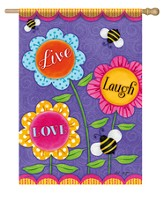 Live Laugh Love Flag, Large