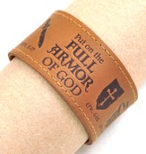 Full Armor of God Leather Bracelet