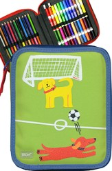 Single Decker Kid's ART Kit, Soccer Dogs Design