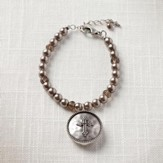 Faith Cross Locket Bracelet