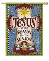 Jesus Is the Reason For the Season Flag, Large