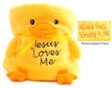 Personalized, Jesus Loves Me, Duck Blankie