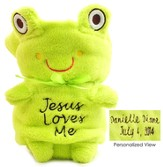 Personalized, Jesus Loves Me, Frog Blankie