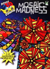 Mosaic Madness, 3-D Coloring Book