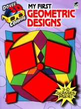 My First Geometric Designs, 3-D Coloring Book