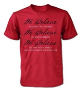 We Believe Shirt, Red, Large