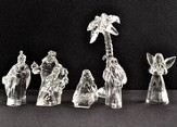 Clear Nativity Figurines, Set of 7