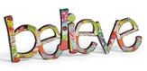 Believe Word Art