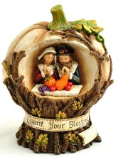 Count Your Blessings Pumpkin Figurine