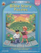 Bible Story Puzzles with Mini-Lessons on the Goodness of God Grades PK-K