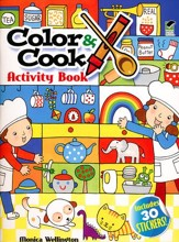 Color & Cook Activity Book with 50 Stickers!
