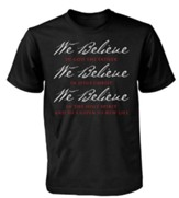 We Believe Shirt, Black, Large