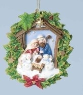 Nativity with Snowmen Ornament
