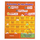 El centro de las sílabas (Spanish Syllables Pocket Chart with Cards)
