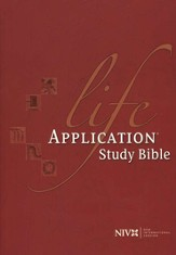 NIV Life Application Study Bible, Hardcover, Thumb-Indexed  1984