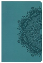 HCSB Ultrathin Reference Bible, Teal LeatherTouch