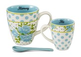 Mommy and Me Mug Set, Aqua