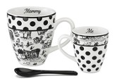 Mommy and Me Mug Set, Black and White