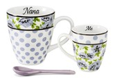 Nana and Me Mug Set, Lilac and White