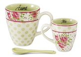 Aunt and Me Mug Set, Pink and Green