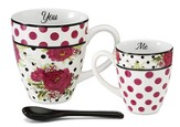 You and Me Mug Set, Red and Black