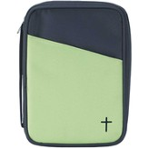 Thinline Bible Cover with Cross, Lime and Blue