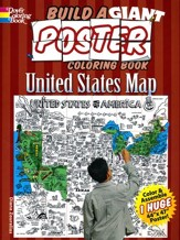 Build a Giant Poster Coloring Book-United States Map