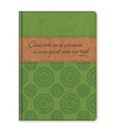 Come With Me By Yourselves To Some Quiet Place and Rest, Faux Leather Journal