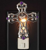 Cross with Heart Nightlight, Purple