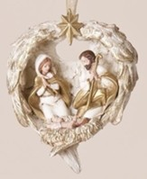 Holy Family in Wings Ornament