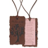 Tree of Life Suede Bookmark