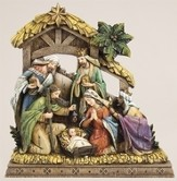 Nativity, Wood Carved Look
