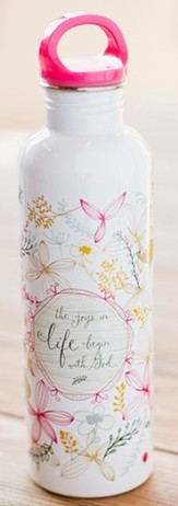 Faith Floral, Psalm 16:11 Water Bottle