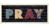 Pray, The Lords Prayer Plaque