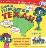 Let's Discover Texas CD-ROM, Grades 2-8