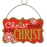 Christmas Is For Christ Ornament