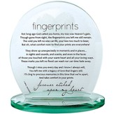 Fingerprints Glass Block