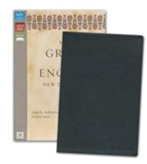 NIV Greek and English New Testament, Italian Duo-Tone, Black