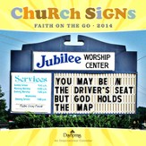 2014 Wall Calendar, Church Signs