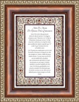 Acto de Accion , Thanks for Quincneanera Framed Print