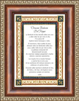 Oracion Bedicion del Hogar, Blessings of the Home Framed Print