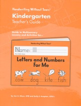 Letters and Numbers for Me Grade K Teacher's Guide