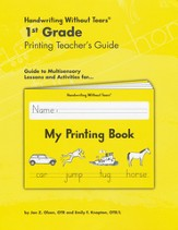 My Printing Book Grade 1 Teacher's Guide