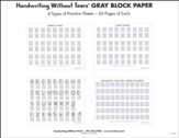 Gray Block Paper, 105 Sheets--Grades PreK-K5.
